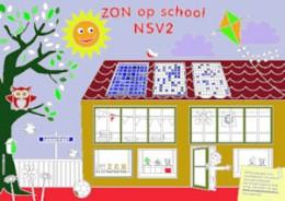 kleurplaat Zon op School NSV2a